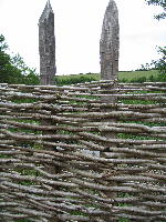 Wooden Palisade fence