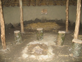 Irish hut interior