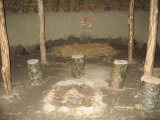 Irish hut interior